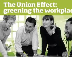 'The Union Effect: greening the workplace report cover