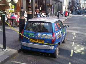 Electric car London 2013