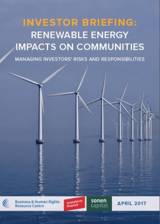 renewable energy investor briefing cover
