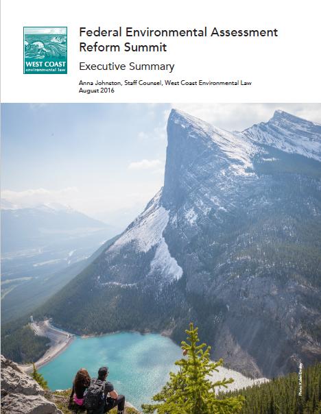 WCEL env assessment summit cover