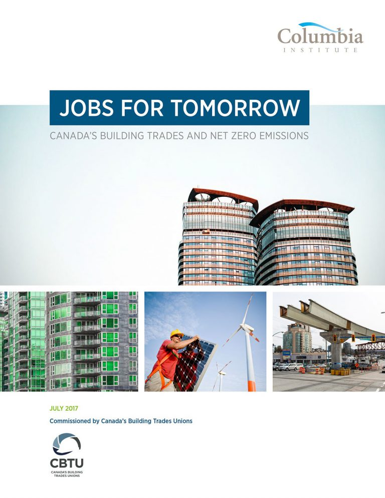 Columbia Institute jobs for tomorrow