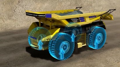 autonomous electric mining truck