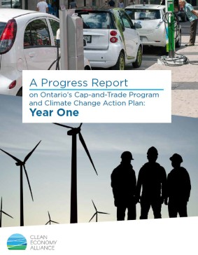 clean economy alliance progress report ontario year 1