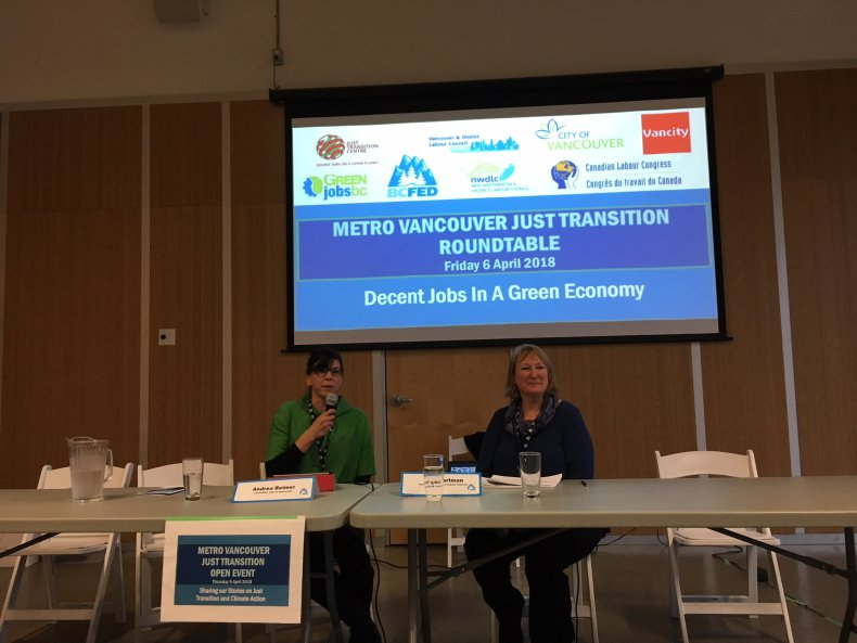 Just Transition Vancouver event 2018