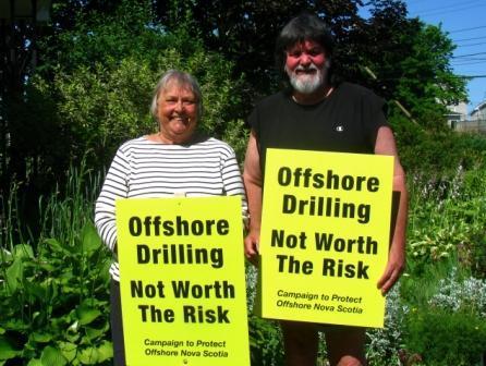 Nova Scotia offshore drilling signs