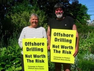 Nova Scotia offshore drilling signs