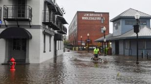 bicycle in flooding