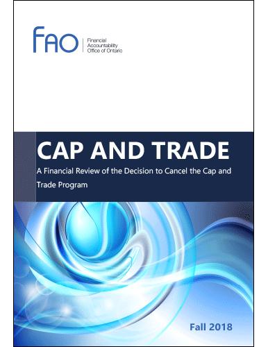 Ontario financial office cap and trade