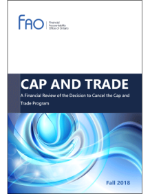 Ontario financial office cap and trade