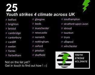 climate strikes uk