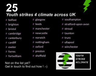 climate strikes uk