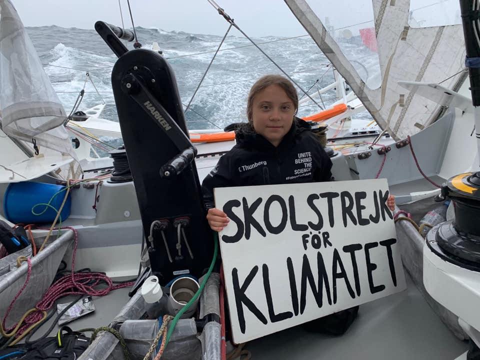 greta on sailboat