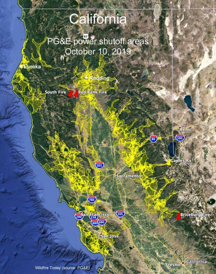 california map PGE_outage_10-10-2019