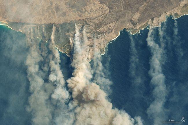 australia nasa smoke