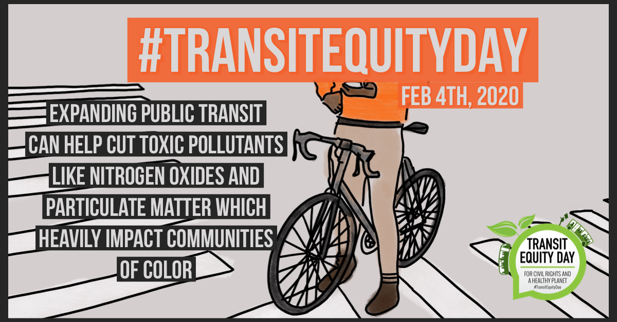 transit equity day people of colour